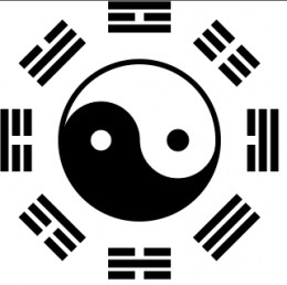 The t'ai chi and surrounding bagua.