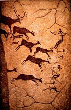 Cave Painting 17,000 BC; from the Lascaux cave complex