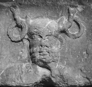 Cernunnos figure found at an ancient Celtic shrine in Paris.