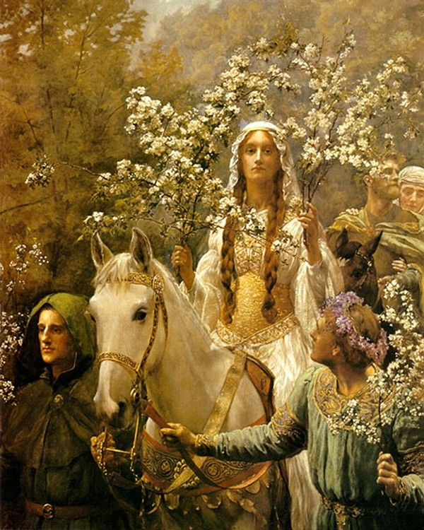 'Queen Guinevere's Maying' by John Maler Collier (1900). Guinevere (or Gwenhwyfar in the original Welsh), is one of the most famous figures of sovereignty in medieval culture.