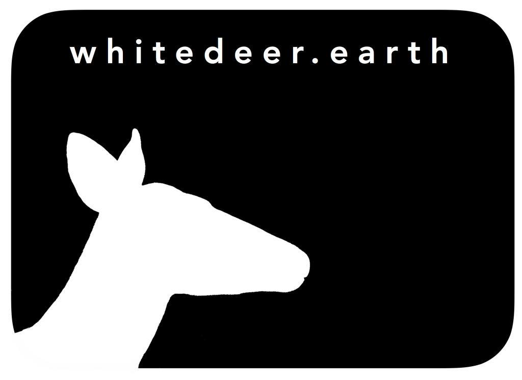 the white deer logo black